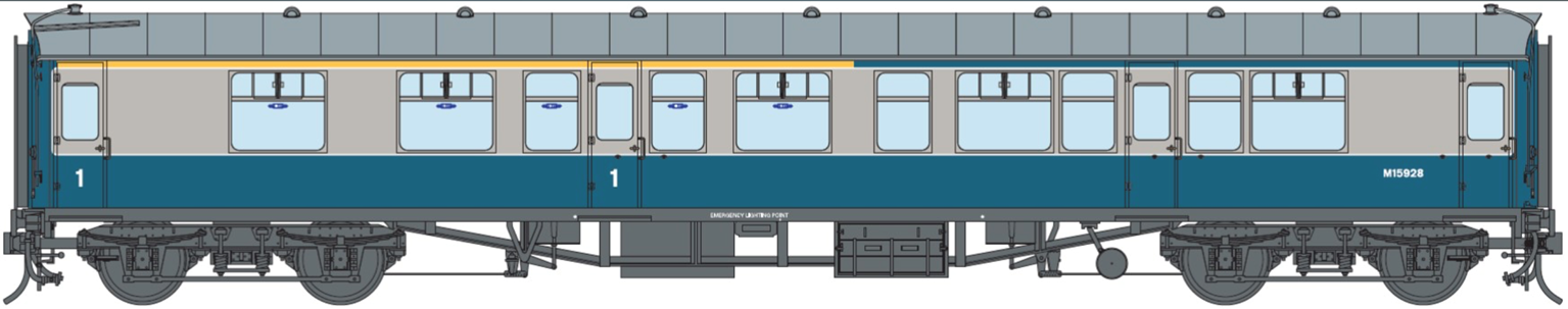 BR Blue/Grey CK MK1 Coach (Unnumbered) DCC Fitted